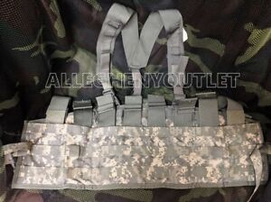 US Military Army MOLLE ACU CHEST RIG TACTICAL ASSAULT PANEL TAP w/ Suspender VGC