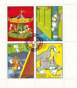 Briefmarken Tom Und Jerry Block Kleinbogen Cartoon Zeichentrick