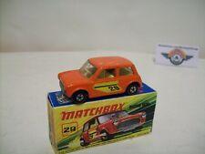 Matchbox Superfast 29, Mini Racing #29, 1972