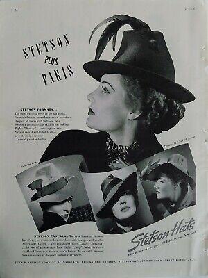 on feet shots of buy cheap buy online 1938 Stetson plus Paris formals women's hats vintage fashion original ad |  eBay