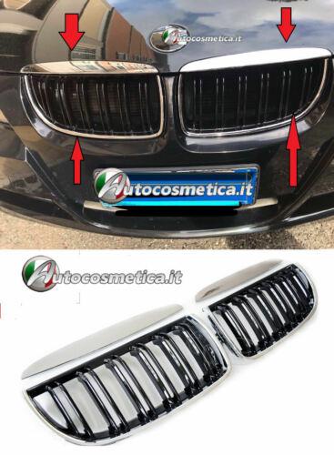 GRIGLIE GRIGLIA CALANDRA CROMATA//NERA LUCIDA BMW E90 E91 05-08 BERLINA SW