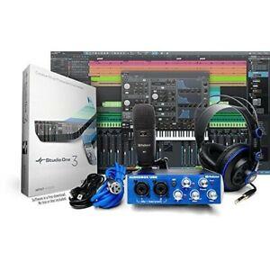 Details about Home Recording Studio Audio Equipment Mic Mixer Headphones  StudioOne Software