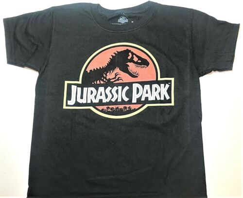 New Jurassic Park shirt boys size XS 4//5 Jurassic Park logo shirt
