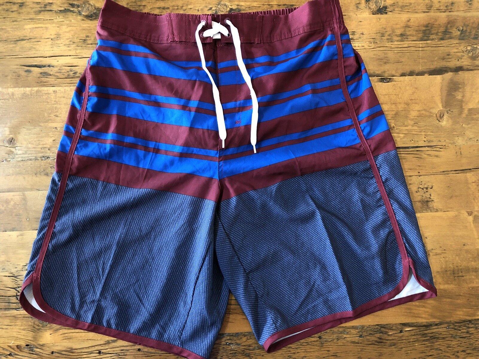 FC Barcelona Mens Size 34 Swim Trunks Stretch Board Shorts FCB Spain Official