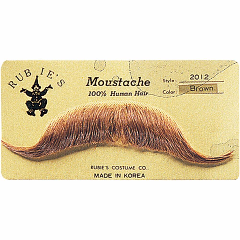 Hand Made Moustache M34  Edwardian  56  Light Grey mix Human Hair Tash
