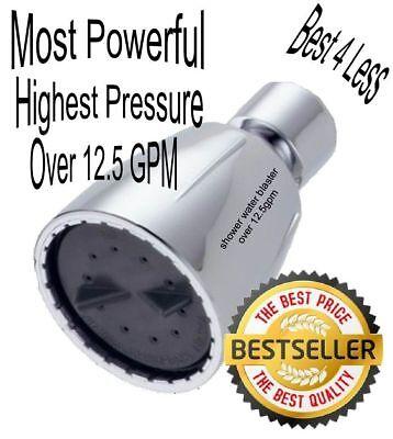 Tremendous Flow High Pressure Shower Head Water Blaster Over 12.5 gpm