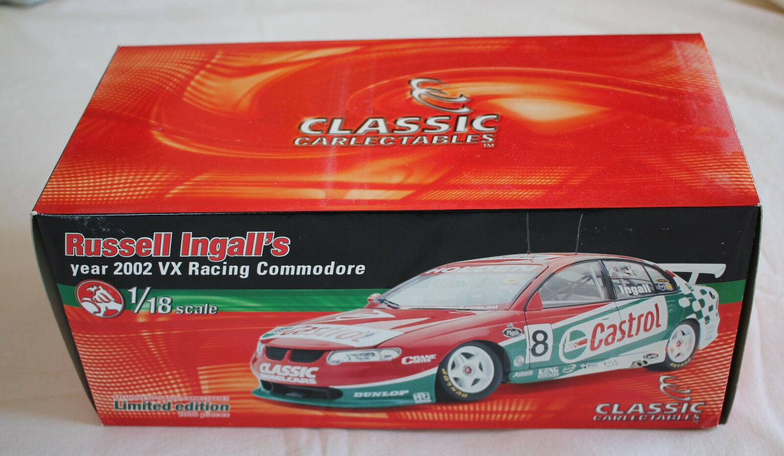 Russell ingall 2002 castrol perkins racing holden commodore v8 supercar 1,18 vx