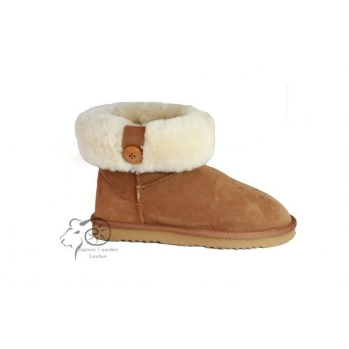 Sheepskin Stiefel ankle with button cuff low 100%sheepskin    | Moderater Preis