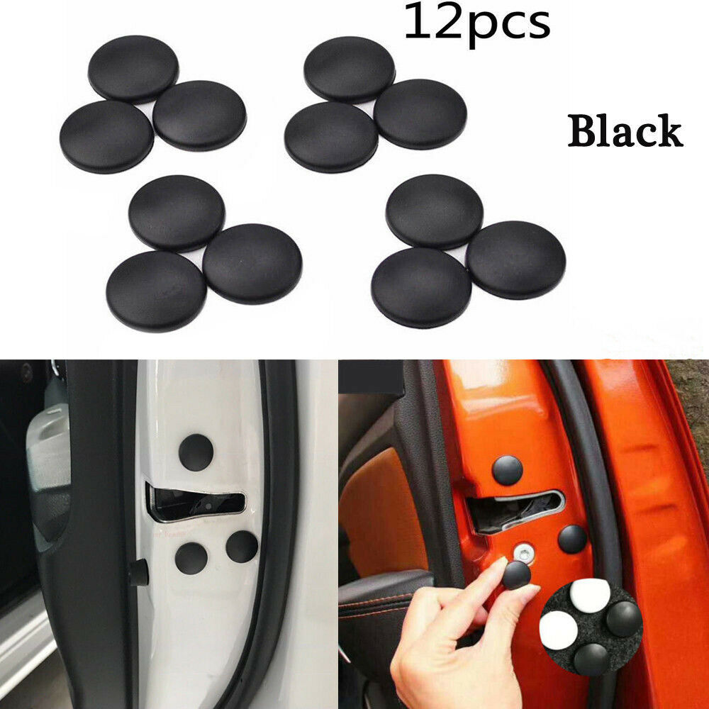 12x Universal Car Auto Interior Door Lock Screw Protector Cover Cap Trim Sticker