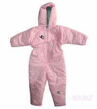 e11440b2e Girls Minoti Pink Padded Hooded Spotted Pattern Snowsuit 6 12 Mths ...