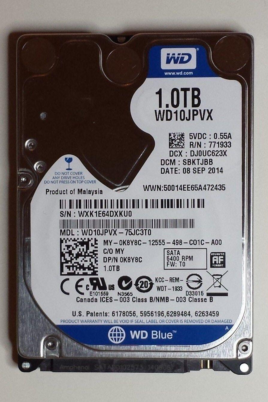 Western Digital WD10JPVX-80JC3T0 1TB DCM SBKTJBK