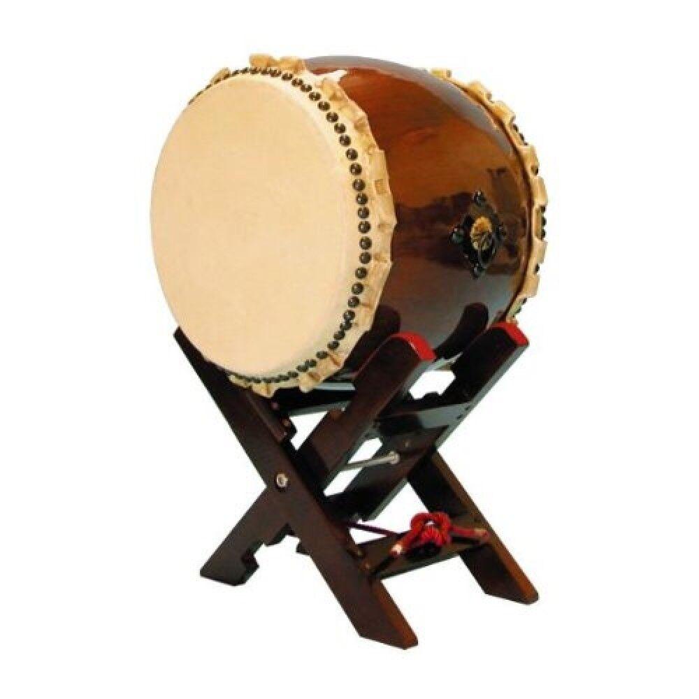 Japanese drum TAIKO Long torso winding ear 1.2 feet with X-pedestal Set F S