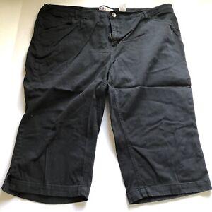 Faded Glory Woman Black Crop Pants Plus Size 20w A1566