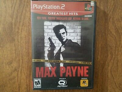 Max Payne Ps2 Playstation 2 Game Greatest Hits 100 Complete