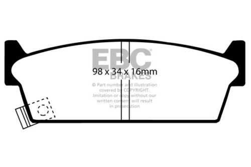 91-94 DP686//2 S13 EBC Ultimax Rear Brake Pads for Nissan 200SX 1.8 Turbo