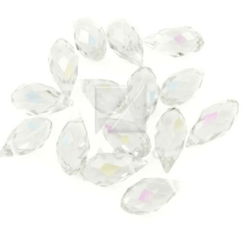 10pcs 12mm Crystal Teardrop Beads Faceted Top Drilled DIY Jewelry Pendants YB