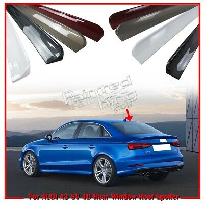 Painted Audi A3 8V 4DR Sedan Rear Window Roof Spoiler Wing 2014-2018
