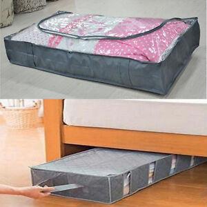 non woven large grey organizer box carpet pillow clothing