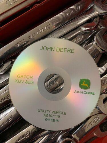 JOHN DEERE GATOR UTILITY XUV 825i Technical Service Repair Manual TM107119 CD