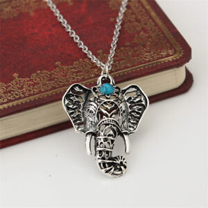 cd871efd3d930 Details about Vintage Silver Elephant Pendant Boho Jewelry Chain Cute  Choker Charm Necklaces