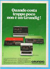 (AM)DOMCOR978-PUBBLICITA'/ADVERTISING-1978- GRUNDIG SONO CLOCK 650/250/550/350