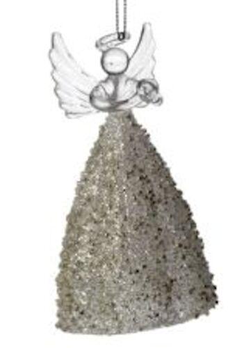 Verre Ange Ornement Suspendu Noël Tree Décoration
