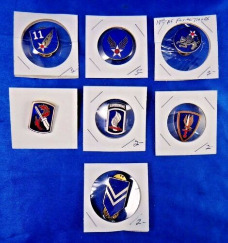 14th Air Force Flying Tigers 173rd Airborne 11th AF 1st Lt Jr. ROTC Pin Lot of 7