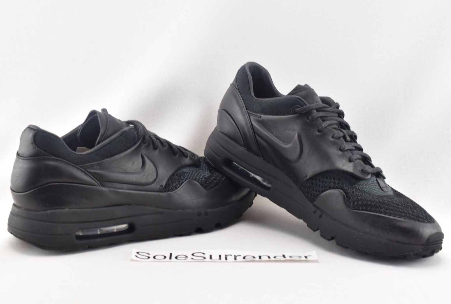 Nike X Arthur Huang Air Max 1 Flyknit Royal -SIZE 8 - 923005-001 Triple Blackout