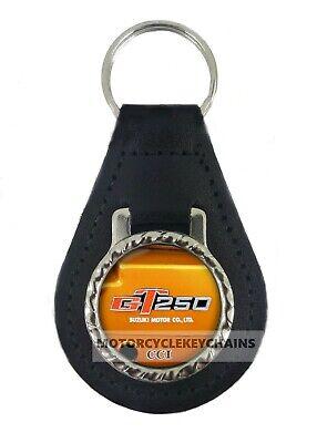 SUZUKI T500 T 500  leather motorcycle keychain