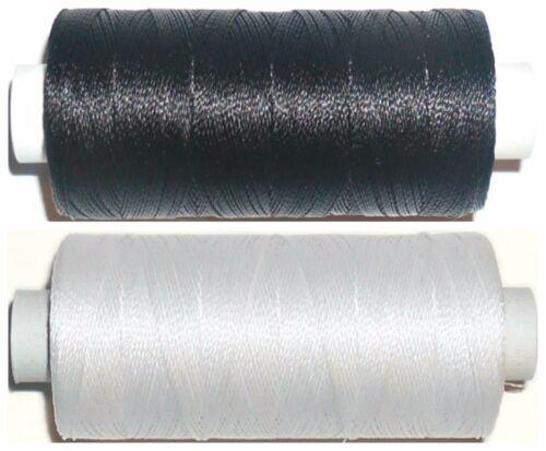 Stark Gebunden Nylon Gewinde Ipcabond Schwarz//Weiß//Natürlich 20er 100MTR Spule