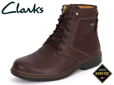 Clarks Men ** X OUTRIDE HI GTX ** Grain Brown Lea Waterproof UK 6,7,8,9,10 G