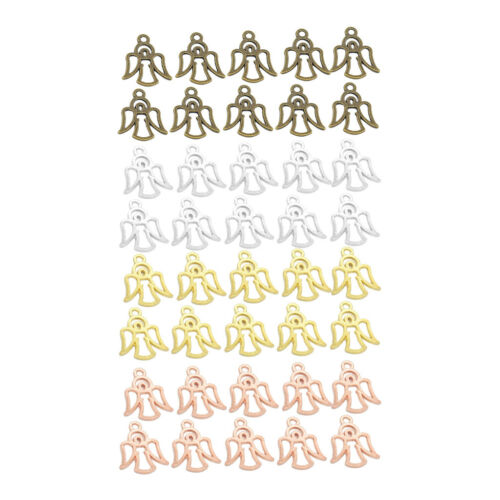 40 Pcs Angel Fairy Pendants Charm DIY Jewelry Making Craft Jewellry Supplies
