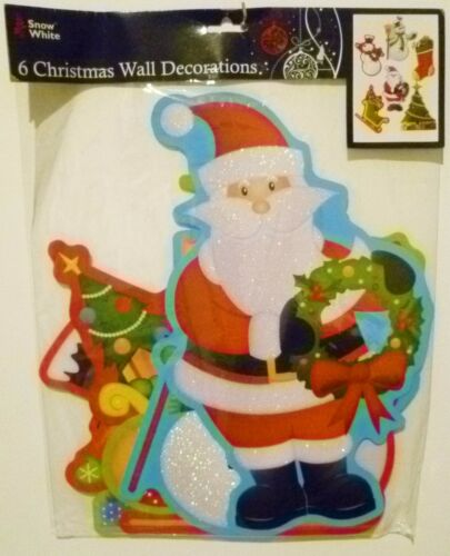 6 Christmas Wall Decorations