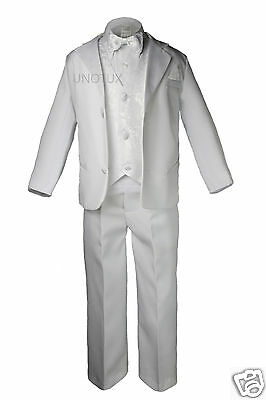 New Baby, Toddler & Boy Christening Formal Tuxedo Suit White S M L Xl 2t 3t- 20