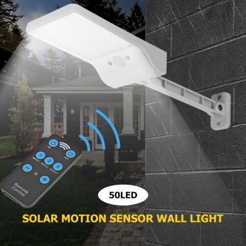 50 LED Solarleuchte Solar Lampe mit Bewegungsmelder Gartenstrahler Außen Fluter
