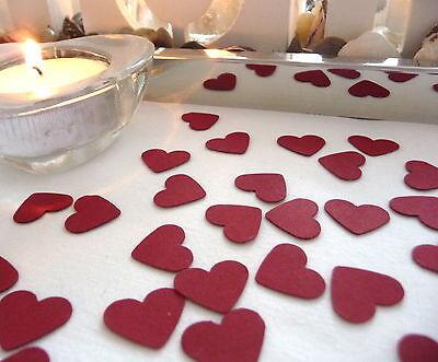Streudeko 50 Piezas Corazón Rojo Nacimiento Confeti Cumpleaños Boda Centro De Mesa