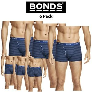 Mens Bonds Guyfront Striped Trunk 2 Pack Classic Seamfree Cotton Elastic MZUQI