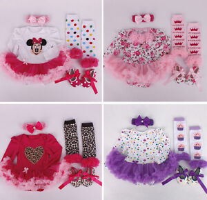 Baby-Headband-Romper-Leg-Warmers-Shoes-Kids-Girl-Outfit-Playsuits-Clothing-Sets