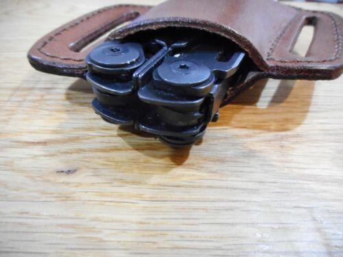 Custom Leatherman Surge Brown leather quick draw sheath Sheath only.