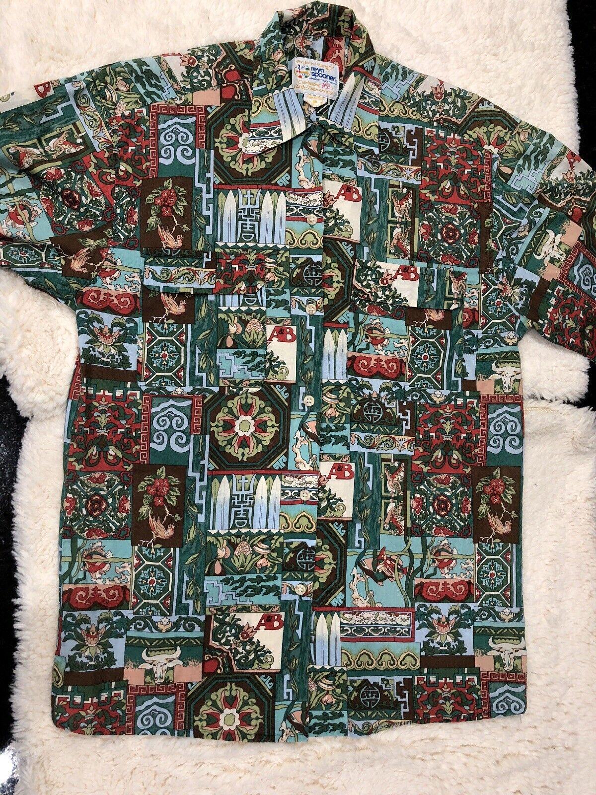 REYN SPOONER Collectible Limited Hawaiian 125th Anniversary Made In Hawaii SZ P