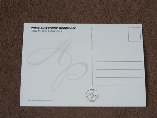 Shadow Tom PRYCE CZE Karte//card 10x15 cm