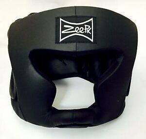 MMA Boxing Sparring Head guard Head Protector Head Gear Black M