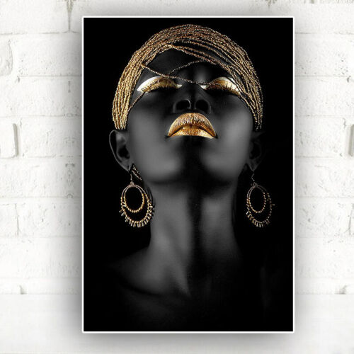African Nude Women Canvas Poster Painting Wall Art Picture Prints Decor Unframed