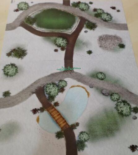 Bodenplatte  59 x 39 cm Weide Teich Doppelseitig Modellbau Winterkinder Hubrig