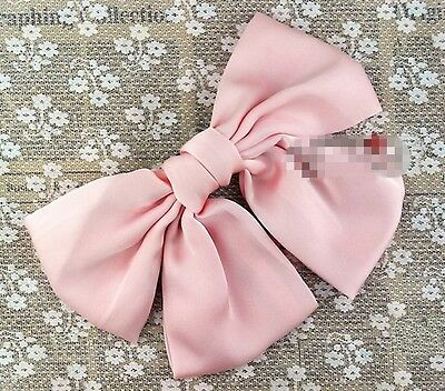 Korean Women Multicolor Satin Ribbon Bow Hair Clips Barrette Ponytail Holder