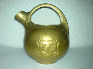 Krug-Messing-Bronze-Metallkrug-schwer-EF-H-13-cm