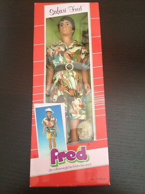 Petra Safari Fred Doll By Plasty New In Box Great Find