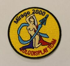Mirage 2000 Solo Display Team  Embroidered Heat -sealed Patch P131