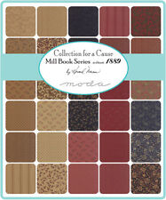"""Mill Book 1889  Moda  Quilt Fabric Charm Pack 42   5"""""""