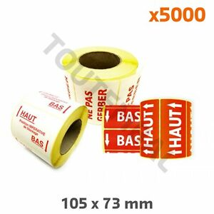 Bon CœUr Etiquette Adhésive De Signalisation Flèches Haut Bas 105x73mm (x1000) (par 5000)